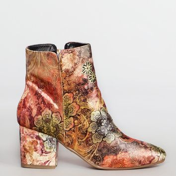 Ginger Paisley Booties