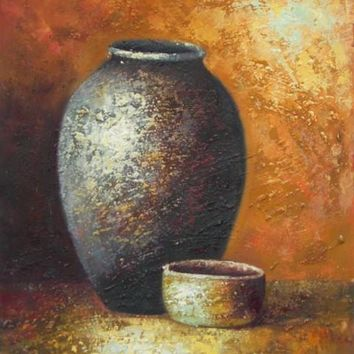 Still Life of Crockery I Art Oil Painting