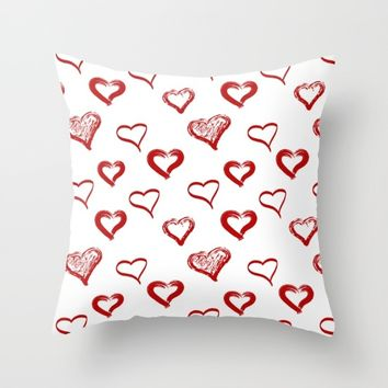 Same Love Pattern Throw Pillow by Sagacious Design