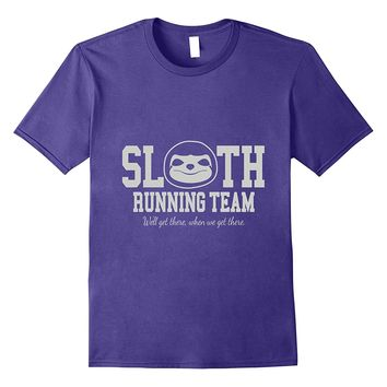 Sloth Running Team Funny Slow Exercise Animal T-Shirt