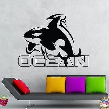 Wall Stickers Vinyl Decal Ocean Dolphin Fish Marine Decor  Unique Gift (z1942)