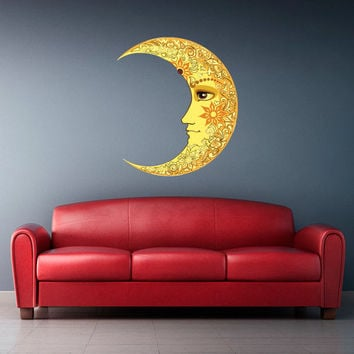Full Color Full Color Wall Decal Mural Sticker Bedroom Living Room Poster Decor Art Moon Day Night Crescent (Col784)