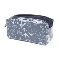 Glitter Cosmetic Bag with Anchor Print | Icing