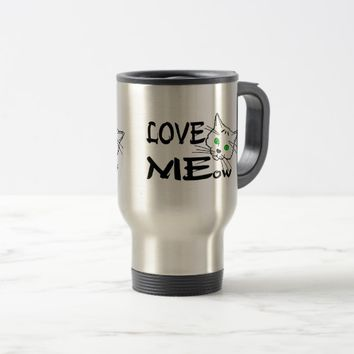 Love MEow funny Travel Mug