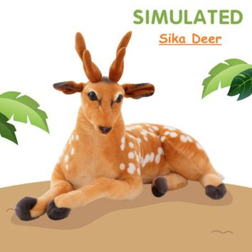 Sika Deer Realistic Giant Stuffed Animal Plush Toy 35""