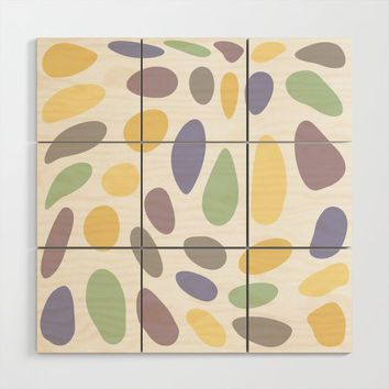 Pebbles yellow green purple pattern by ARTbyJWP