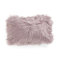Thro by Marlo Lorenz Purple Fur Throw Pillow