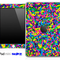 Neon Sprinkles Skin for the iPad Mini, iPad 1st, 2nd, 3rd or 4th Generation