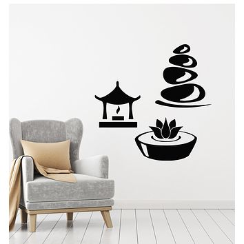 Vinyl Wall Decal Spa Centre Relax Bathroom Massage Therapy Room Stickers Mural (g211)