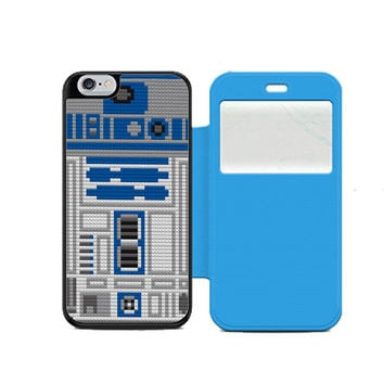 Star Wars R2D2 lego Wallet Flip Case iPhone 4 5 6 Samsung Galaxy S3 4 5 Note 3 4