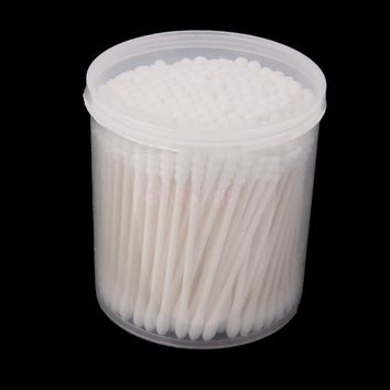 200pcs Cotton Swabs Round Tip Wood Handle Makeup Applicator 7.5cm