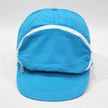 Cap Sac Adjustable Cap with Pocket Turquoise