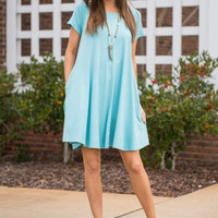 Ocean Breezy Dress, Seafoam
