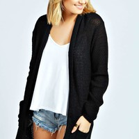 Naomi Loose Knit Hooded Cardigan