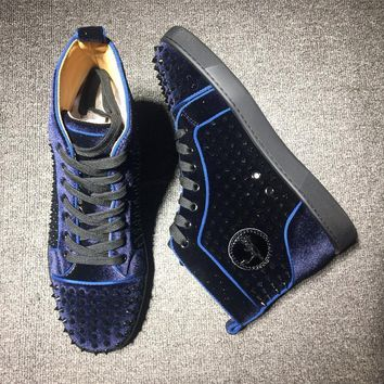 Cl Christian Louboutin Louis Spikes Mid Style #1801 Sneakers Fashion Shoes - Best Deal Online