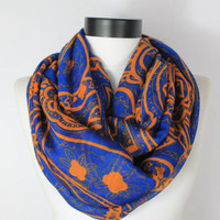 boho blue scarf,scarf,infinity scarf, scarf, scarves, long scarf, loop scarf, gift