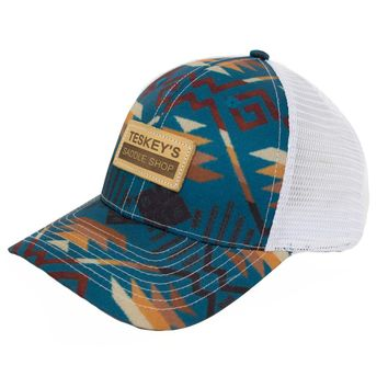 Teskey's Saddle Shop: Teskey's Turquoise Aztec Cap