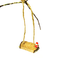 Fairy Garden Tree Swing Woodland Miniature Mushrooms Accessory