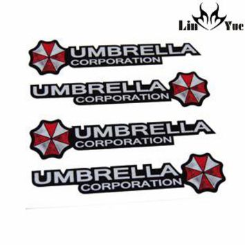 4pcs/lot Resident Evil Umbrella corporrtion Hand stickers Car Stickers Auto Racing Decor Decoration Decals