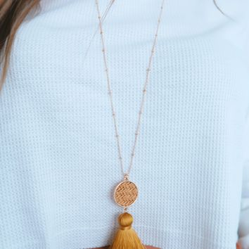 So Charming Necklace: Tan/Multi
