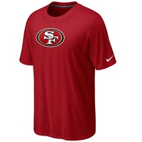 Nike San Francisco 49ers Legend Logo Performance T-Shirt - Scarlet