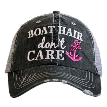Boat Hair Don't Care - HAT - Ruffles with Love - RWL