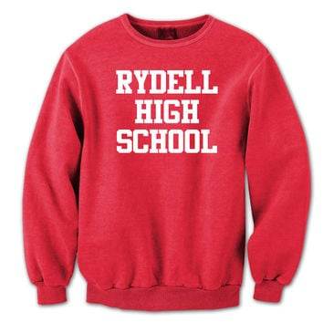 Rydell High School Funny Retro Grease Movie Dance Crewneck Sweatshirt DT0155