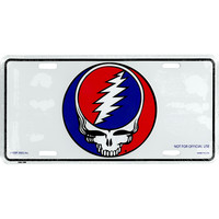 Grateful Dead SYF Metal License Plate Deadhead