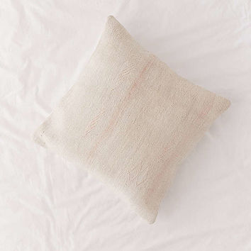 Vintage Diamond Weave Hemp Throw Pillow | Urban Outfitters