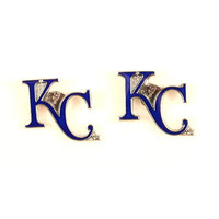 MLB Kansas City Royals Team Logo Hypoallergenic Stud Earrings