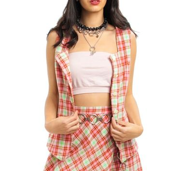 Vintage 90's Candy Lane Retro Skort Suit - XS