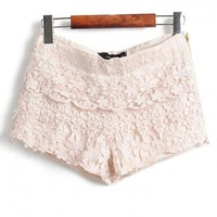 Product search_Layers Of Lace Lace Shorts Beige_udobuy - Fashion Dress with Free Shipping
