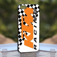 KTM Racing, Print on Hard Cover iPhone 5 Black Case