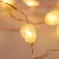 Skull Battery Powered String Lights - Urban Outfitters