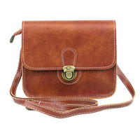 Vintage Mini Leather Handbags Clutch Luxury Handbags Women Bags Designer Women Messenger Bags Crossbody Lock Bolsa Feminina ELY