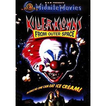 Killer Klowns From Outer Space Movie poster Metal Sign Wall Art 8in x 12in