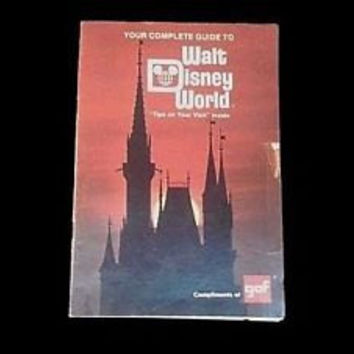 VINTAGE Your Personal Complete Guide To Walt Disney World Vacation Booklet Promotional Brochure Advertisement Disneyland Souvenir Gift
