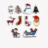 Holiday Collection Free Floating Charms for Charm Locket Necklaces