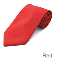 Red Wedding Tie and Hanky Set