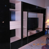 Sebastian Wall Unit in Black - Contempo Space