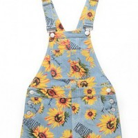 SUNFLOWER GARDEN OVERALL SKIRT / SAX