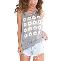Fanatic Daisy Top - Grey