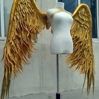 Gold Luxury Angel Wings Catwalk Cosplay Props