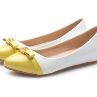 Womens Lovely Two Toned Flats