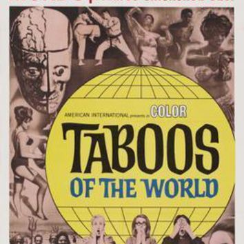 Taboos Of The World movie poster Sign 8in x 12in