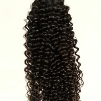 "18"" Virgin Brazilian, Peruvian Unprocessed Weft 100% Remy Human Hair Extensions- Afro Wave"