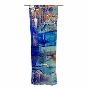 "Malia Shields ""The Blues 4"" Blue White Painting Decorative Sheer Curtain"