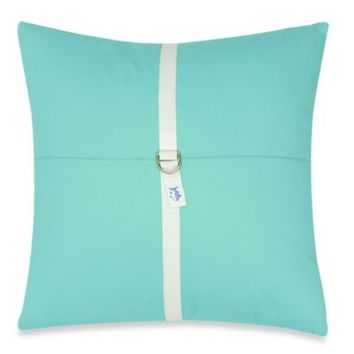 Southern Tide® Cabana Stripe 18-Inch Square Toss Pillow in Offshore Green
