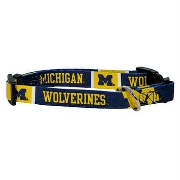 Michigan Wolverines Dog Collar