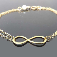 Infinity bracelet - Gold Filled